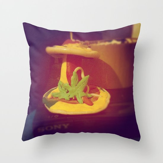 My Lovely Earth Jam  Throw Pillow