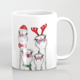 Christmas family ostrich Coffee Mug