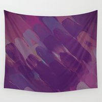 lipstick Wall Tapestries featuring Purple Lipstick by Renée