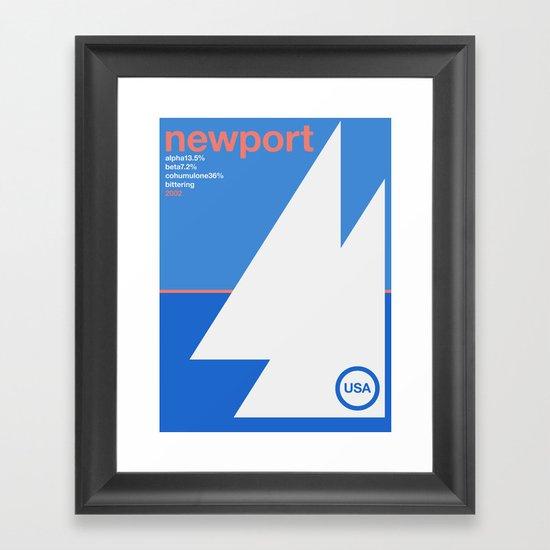 newport single hop Framed Art Print