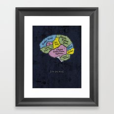 The Geek Brain Framed Art Print