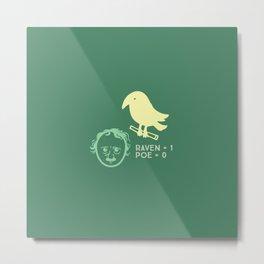 Poe & Raven Green (designer) Metal Print