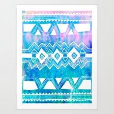 PATTERN {Tribal 002} Art Print