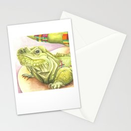 Plaid Iguana Stationery Cards
