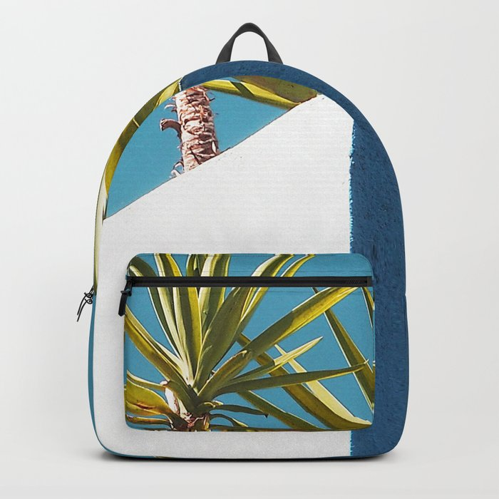 Cactus blue white Backpack