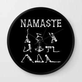Namaste Halloween Yoga Practitioner Wall Clock