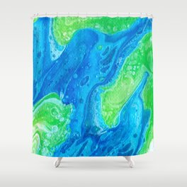 Blue & Green So Clean Shower Curtain