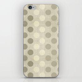 """Nude Burlap Texture and Polka Dots"" iPhone Skin"