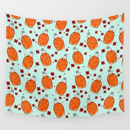 Super Canadian Maple Syrup Pattern Wall Tapestry