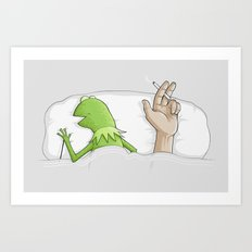 Crazy night Art Print
