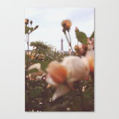 Flowers grow in Paris Canvas Print