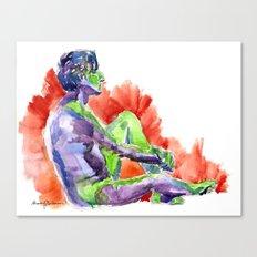 in full living technicolor Canvas Print