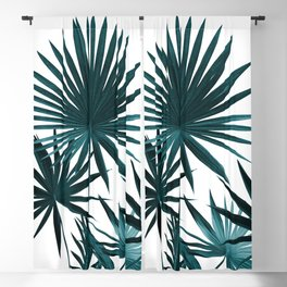 Fan Palm Leaves Jungle #1 #tropical #decor #art #society6 Blackout Curtain