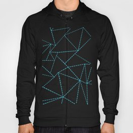 Ab Dotted Lines Blue on Pink Hoody