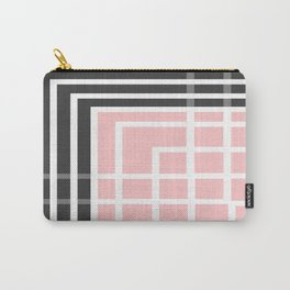 Square - Pink and Grey Carry-All Pouch
