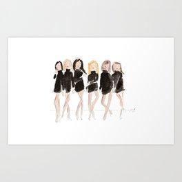 Supermodels Art Print