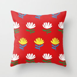 Exotic flowers Throw Pillow