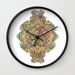 Botanical inspired zentangle - pineapple addition Wall Clock
