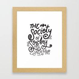 The Society of Sorcery Framed Art Print