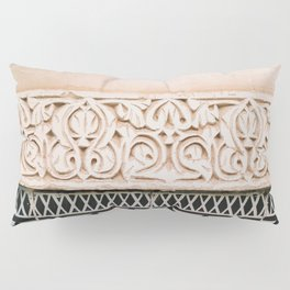 Graphic tile pattern   Moroccan Arabic tiles in earth tones.   Pastel film marrakech photography Pillow Sham