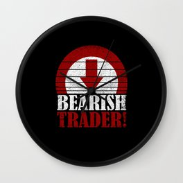 Bearish Trader Artwork Wall Clock