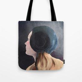 Blue Woolen Coif Tote Bag