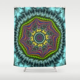 Fractal Agate Shower Curtain