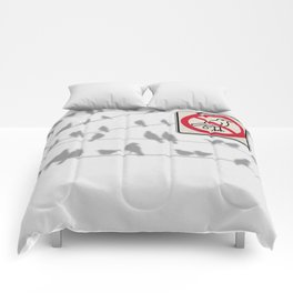 Birds Sign - NO droppings 4 Comforters