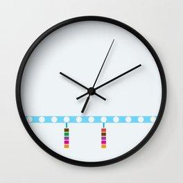 Blue Line - Damen Wall Clock