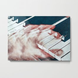 Piano Pianist Hand Poster Metal Print