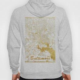Baltimore Map Gold Hoody