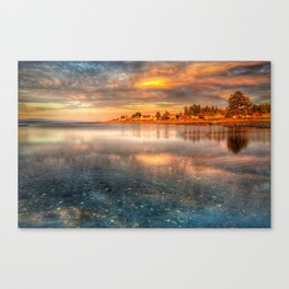 French Creek sunset Canvas Print