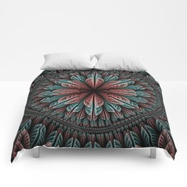 Fantasy flower and petals IV Comforters