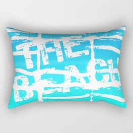 The Beach Aqua Rectangular Pillow