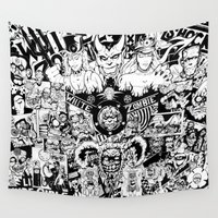 zombie Wall Tapestries featuring Zombie by Detonation