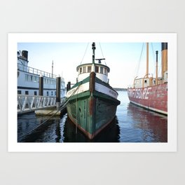 In Harbour  Art Print