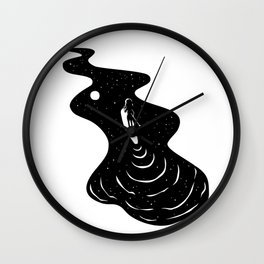 Night Sky Paddleboarding Wall Clock