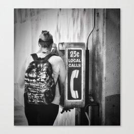 The Phone Call Canvas Print