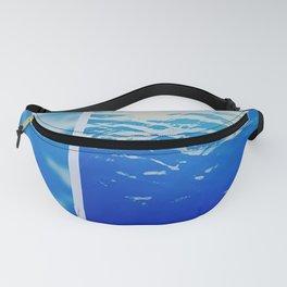 Neon Ocean Abstract Snapshot Fanny Pack