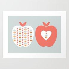Scandi Apples Art Print