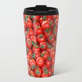 Red Cherry Tomatoes Pattern Travel Mug