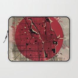 chicago map japanese style Laptop Sleeve