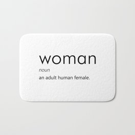 Woman (Definition) Bath Mat