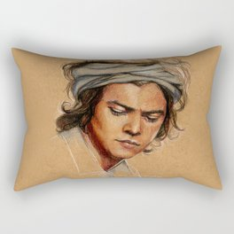 H tan paper Rectangular Pillow