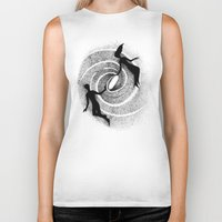milky way Biker Tanks featuring Milky Way by Aleksandra Kabakova