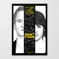 himym Canvas Prints featuring Barney Stinson Playbook (Silver Linings Playbook + HIMYM) by HuckBlade