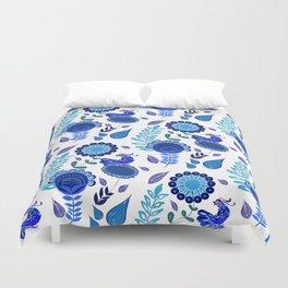 Blue Garden Duvet Cover