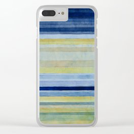 Colorbands Daylight Blue and Yellow Clear iPhone Case