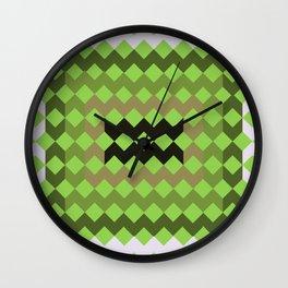 Green Quilt Wall Clock