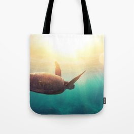 Sea Turtle - Underwater Nature Photography Tote Bag